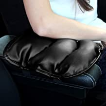 GAMPRO Luxury PU Soft Leather Car Center Console Cushion(11x 8.6 inches) Vehicle Seat Cushions Armrest Pillow Pad for Car Motor Auto Vehicle, Raises Your Center Console.(Black)