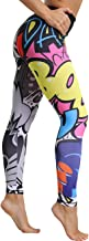 Mallas Deporte Mujer Leggins Yoga Pantalón Medias Deportivas Patrón de Dibujos Animados Gym Pantalones Deportivos Elástico Polainas para Running Pilates Fitness Ejercicio