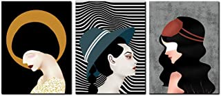 Pop Wall Art for Living Room Triptych Street Graffiti Series Women Canvas Printing Pictures Home Decorations for Bedroom P...