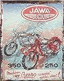 20,3x 25,4cm Jawa Motorrad Metall Schild retro vintage Stil 20,3x 25,4cm 20x 25cm Garage...