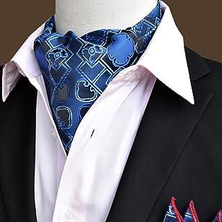156f9d65a4cc5 QIANGDA Écharpe en Soie Hommes Cravate Foulard Col De Chemise Écharpe  d'affaires, 50