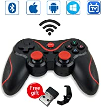 Leton Wireless Mini Mobile Game Controller for PC/Android Smartphone/Smart TV/TV Box/ PS3/iPhone XR iPhone 11 2.4GHZ Bluetooth Gaming Gamepad Joystick Controller for Samasung A51 A71 S20 S9 S8 etc