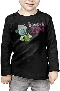 2-6 Year Old Children's Long Sleeve T-Shirt Invader Zim Gir Doom Logo Personalized Fashion Customization Black