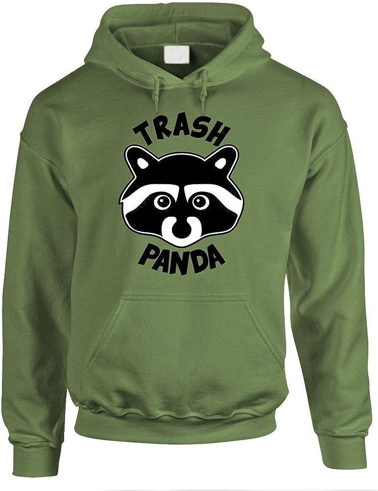 TRASH PANDA - funny raccoon meme humor - Mens Hoodie, 2XL, Military