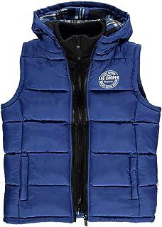 Boys Lee Cooper Padded Gilet Bodywarmer  Sleeveless Jacket Age 7 8 9 10 11 12 13