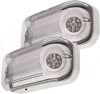 LFI Lights - 2 Pack - UL Certified - Hardwired Outdoor Rated LED Emergency Egress Light - Wet Listed - ELWETLEDx2
