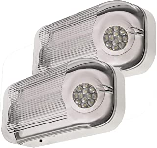 LFI Lights - 2 Pack - UL Certified - Hardwired Outdoor Rated LED Emergency Egress Light - Wet Listed - ELWETLEDx2