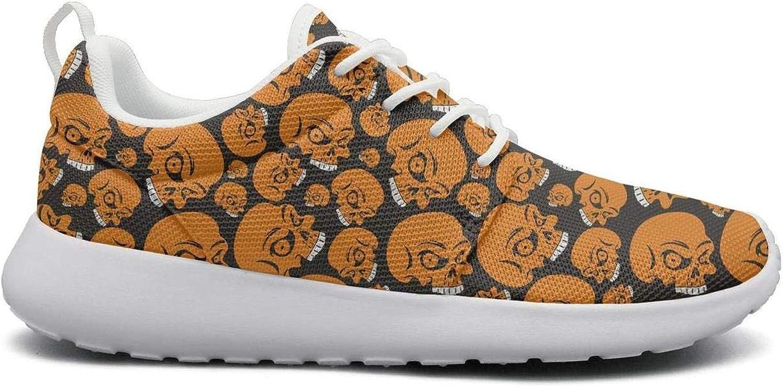 Wuixkas Skull Skeleton Womens Lightweight Mesh Sneakers Popular Running shoes