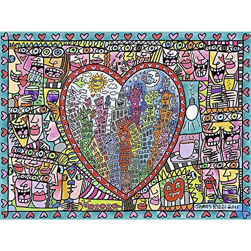 Fascinating Wooden Puzzle Creative Expression Hand Drawing, Children's Drawing, Perfect Cut & Fit, 300~1500 Pieces Boxed Basswood Puzzles Jigsaw Game Art Drawing for Adults & Kids (Size : 1000pc)