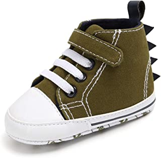 Weixinbuy Toddler Baby Boy's Anti-Slip Soft Sole Dinosaur Style High-top Sneaker Ankle Boot Prewalker Shoes