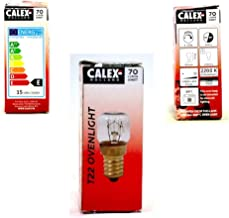 Calex - Oven lamp 300°C T22 - Oven lampje - Helder glas - Ø22mm - E14 Fitting - 15W 2200K 70lm - Energielabel E