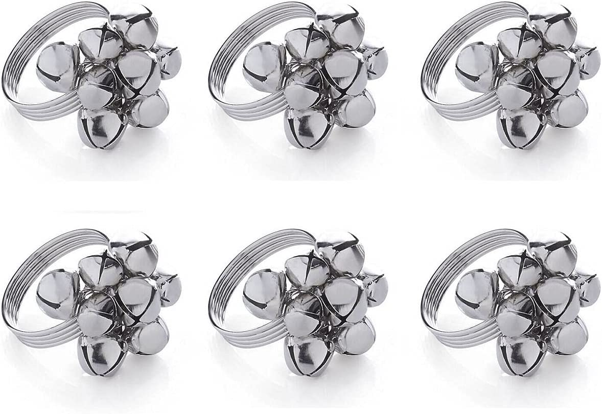 Xidmold Napkin Recommended Rings Set of Bells Christmas 6 Ranking TOP10 Hol Sliver