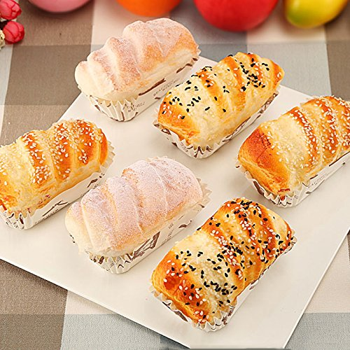 Nice purchase Artificial Cake Fake Simulation Realistic Food Imitation Faux Replica Cake Bread Dessert for Home Kitchen Party Decoration Display Props Real Model 6 PCS