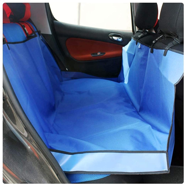 Pet car seat, pet car mat, car mat Back seat, Dog one high and one Low Rear Row Oxford Cloth mat Waterproof and antifouling,bluee