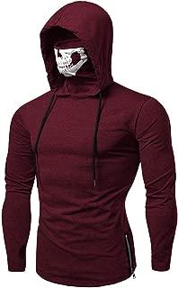 Leomodo Zipper Drawstring Skull Mask Hoodie