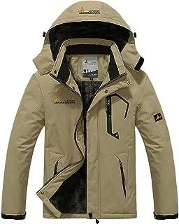 Men's Winter Coats Warm Fleece Parka Waterproof Ski Snowboarding Jacket with Multi-Pockets