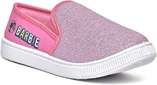 Barbie by Toothless Kids Girls Baby Pink Canvas Shoes Sneakers