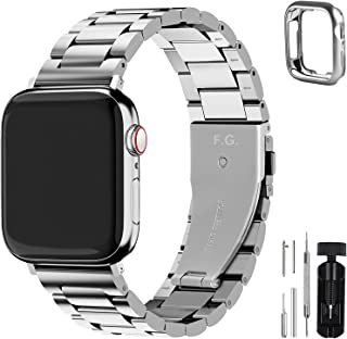 Fullmosa Compatible for Apple Watch Band 38mm 40mm 42mm 44mm, Stainless Steel Metal for iWatch SE & Series 6 5 4 3 2 1
