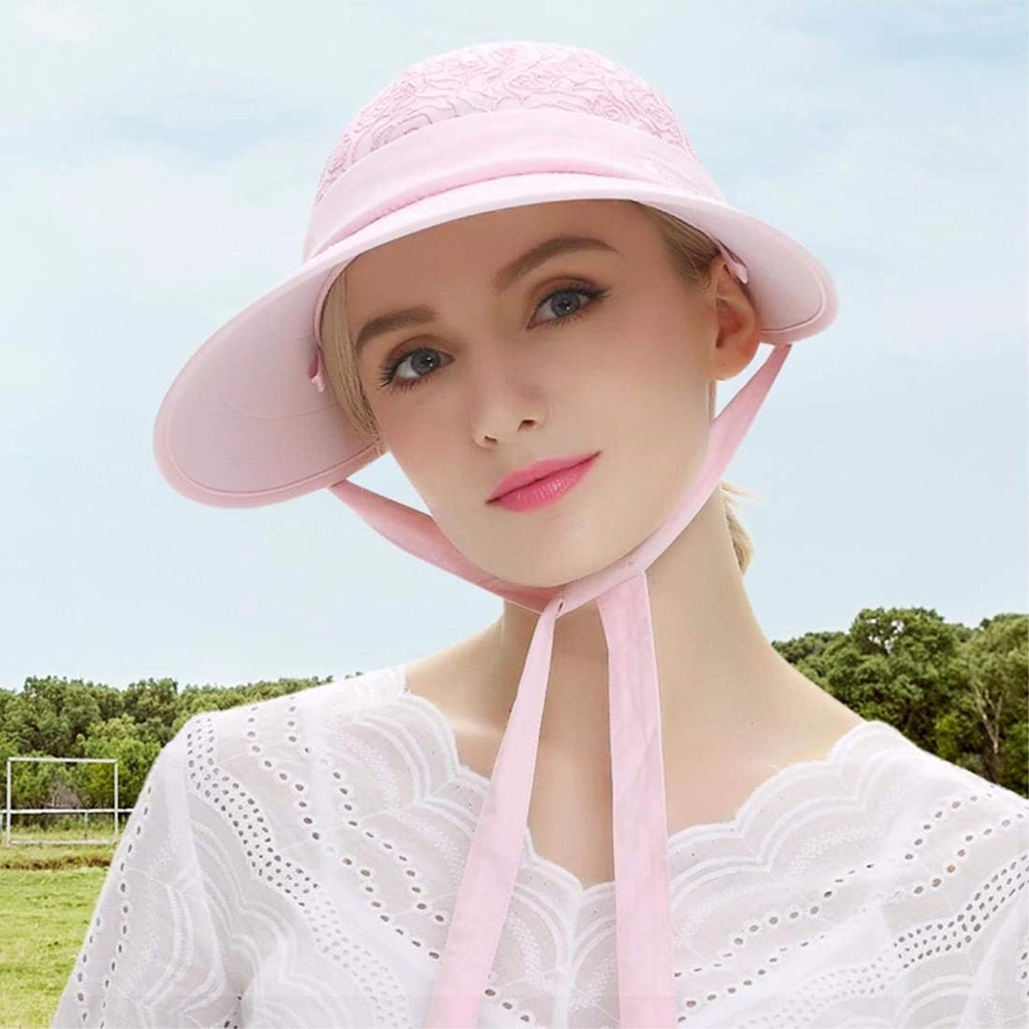 Beach Hat Woman Hat Summer Outdoor Uv Visor Beach Cap Sun Cap Empty Top Hat Pink Summer Sun Hat