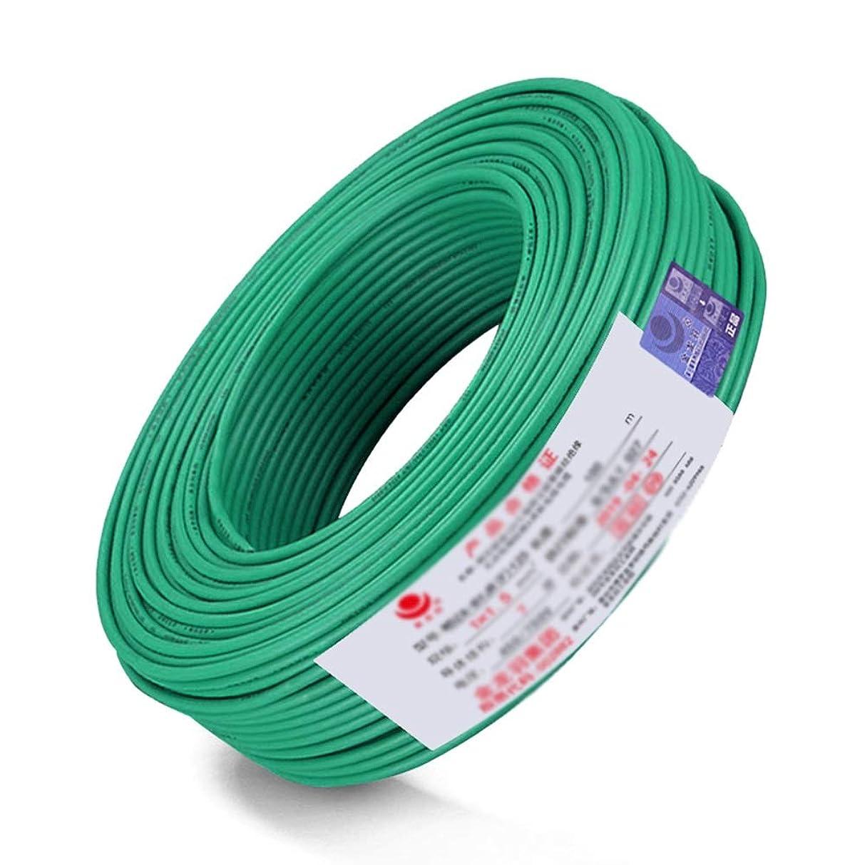 火炎連隊大使電線ケーブルZC-BVR6スクエアGB銅線のシングルコアのマルチストランド柔らかいライン難燃剤ホーム改善ワイヤー100 M (Color : E)