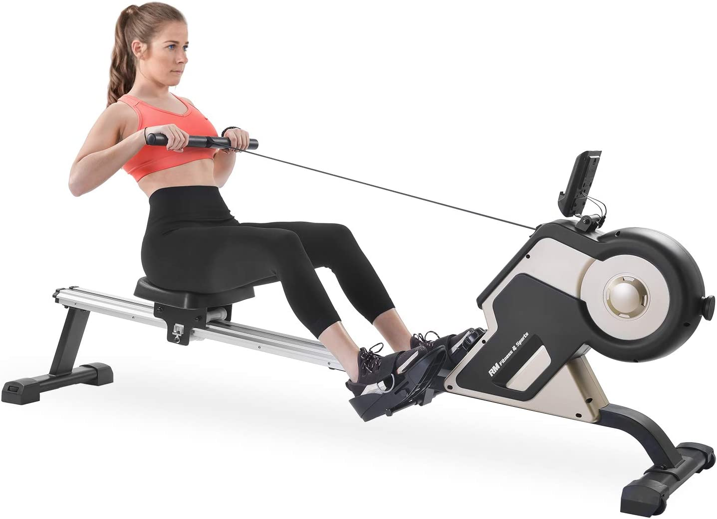 Magnetic Rowing Machine Compact Indoor Rower with Magnetic Tensi