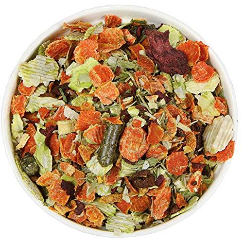 Schecker Gemüsemix Pur 5 kg Nachfüllbeutel getreidefreies Hundefutter ideal zum Barfen oder Strecken von Nassfutter oder Trockenfutter