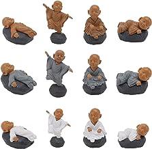 Generic 12pcs Ceramic Monk Figurines Statue Tiny Cute Buddha Statue Desktop Monk Figurine Dekstop Fu Buddhism Figure Doll ...