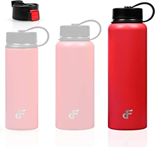 Day 1 Fitness Stainless Steel Water Bottle Wide Mouth with 2 LIDS (20 oz, 32 oz, or 40 oz) - 3 Size and 8 Color Options – ...