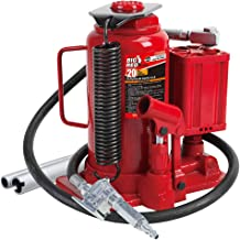 BIG RED TA92006 Torin Pneumatic Air Hydraulic Bottle Jack with Manual Hand Pump, 20 Ton..