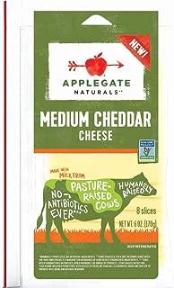 Applegate, Natural Medium Cheddar Cheese Slices, 6oz