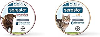 Bayer Seresto Flea and Tick Collar for Large Dog and Cat (all sizes) Bundle, 8 Month Protection