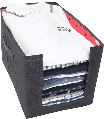PrettyKrafts Shirt Stacker Closet Organizer - Shirts and Clothing Organizer - (Single) (Black & Red)