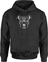 Expression Tees Pitbull Sugar Skull Day of The Dead Unisex Adult Hoodie