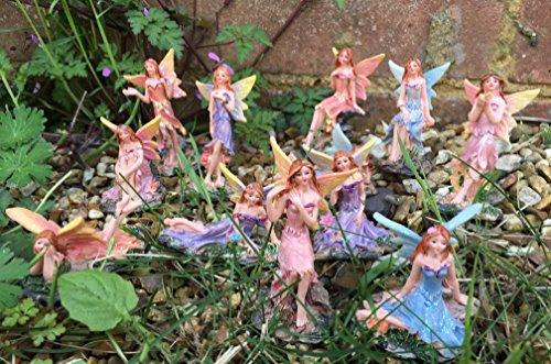 Set of Six Fairy Decorations Garden Landscape