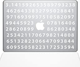 """The Decal Guru Pi Decal Vinyl Sticker, 12"""" MacBook, White (2359-MAC-12M-W)"""