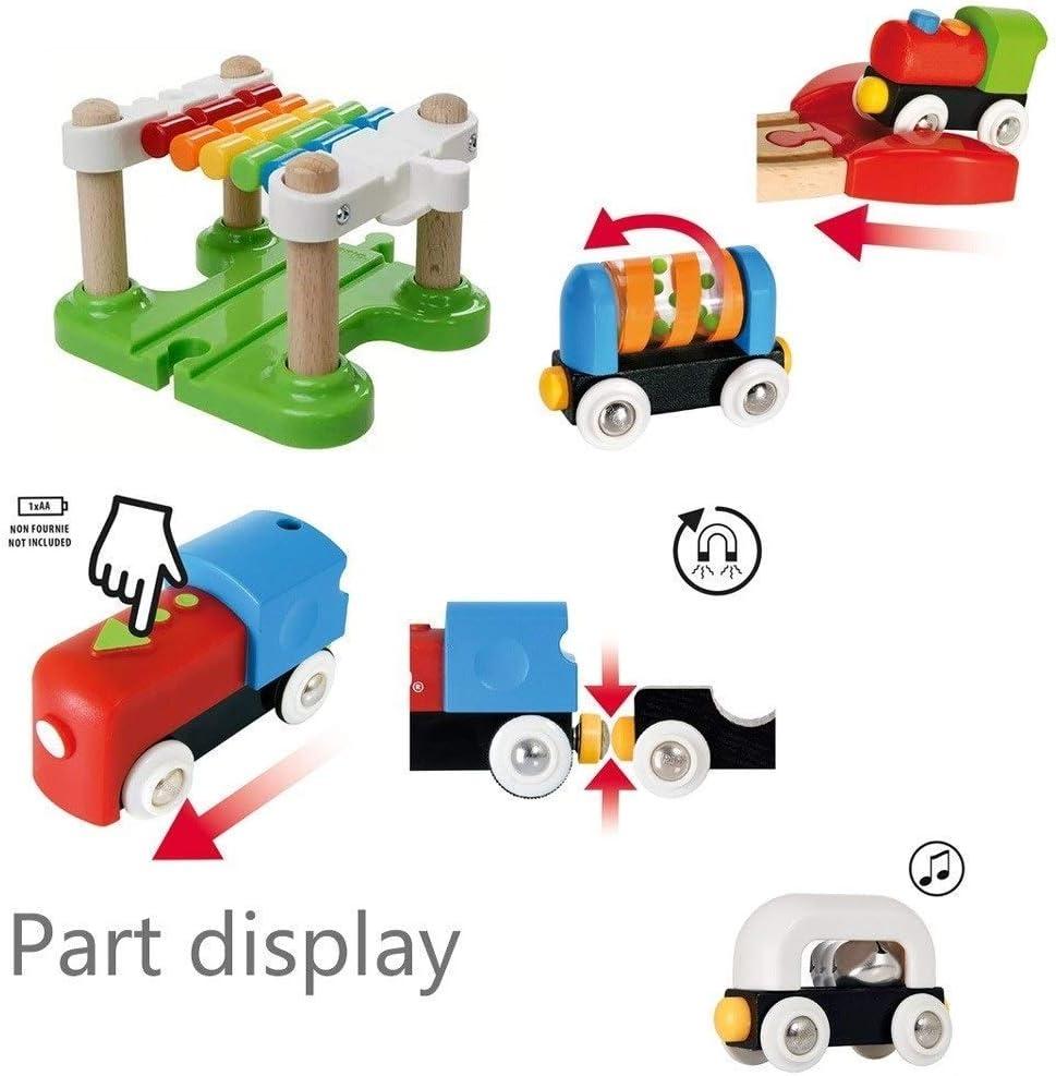 Instapmodel elektrische treinbaan voor kinderen Jongen en meisje Educatief speelgoed voor vroeg onderwijs om hands-on vaardigheden te ontwikkelen 3 jaar oud, beste geschenken A