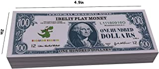 IBELIY Prop Money Educational Play Money for Kids 100 Dollar Bills,Cartoon Game Money Replace Money Stacks in Pretend Play Counting Money,Great for Classroom Management,Learning to Count
