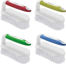 Amazer 4-Pack Scrub Brush Comfort Grip & Flexible Stiff Bristles Heavy Duty for Bathroom Shower Sink Carpet Floor