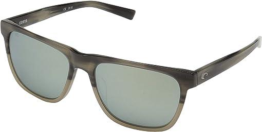 Gray Silver Mirror 580G/Shiny Sand Dollar Frame