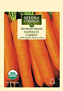 Seeds of Change S20295 Certified Organic Napoli Carrot, 600 Seed Count