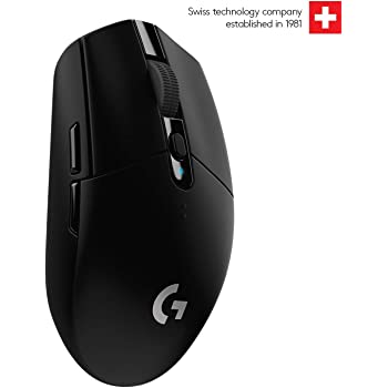 Logitech G 304 Lightspeed Wireless Gaming Mouse, Hero Sensor, 12,000 DPI, Lightweight, 6 Programmable Buttons, 250h Battery Life, On-Board Memory, Compatible with PC/Mac - Black