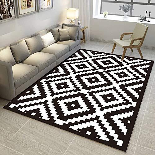Druck geometrische abstrakte Hause 50 * 80 cm M007,Home Indoor/Outdoor recyceltem Kunststoff Bodenmatte/Teppich - reversibel - Wetter und UV-beständig