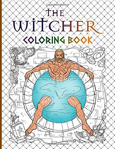 The Witcher Coloring Book: Stress Relieving The Witcher Coloring Books For Adult
