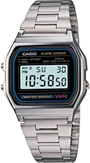 Casio Unisex Digital Dial Stainless Steel Band Watch [A159W-1]