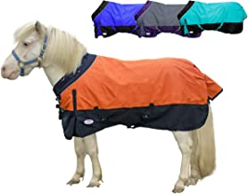 Derby Originals Windstorm Series Premium Mini Horse and Pony Winter Turnout Blanket with 1200D Ripstop Waterproof Nylon Exterior