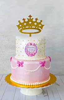 [USA-SALES] Princess Crown Cake Topper, Girl Birthday Queen, First Birthday, It's A Girl Baby Shower Cake Topper, Gender Reveal Party Decoration, by USA-SALES Seller