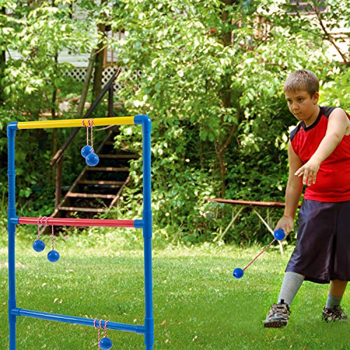 VEUXOUT Ladder Toss Game Ladder Golf Ball Set Outdoor/Indoor Game Party Family Game Set with 2 Targets 6 Golf Bolas and Pack Carrying Case