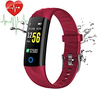 Fitness Tracker with Heart Rate Monitor Fitness Bracelet Waterproof IP67 Pedometer Heart Rate Monitor Smart Bracelet Activity Tracker with Sleep Monitor for Kids Women Mens