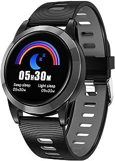 Zomeber Coloreada de la Pantalla rastreador de Ejercicios R15 Pantalla de 1.3 Pulgadas IPS Color SmartWatch IP67 a Prueba de Agua, Correa de Reloj de TPU (Gris)