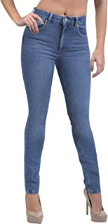 SUG Women's Skinny Stretch Jeans Ripped High Waisted Mid Rise Butt Lift Modern Denim Pants